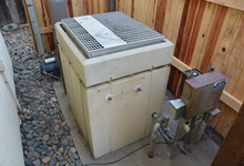 987 Main Street , Roseville, CA, 95874 Listing: Back Yard Pool Heater Photo by Real Estate Agent
